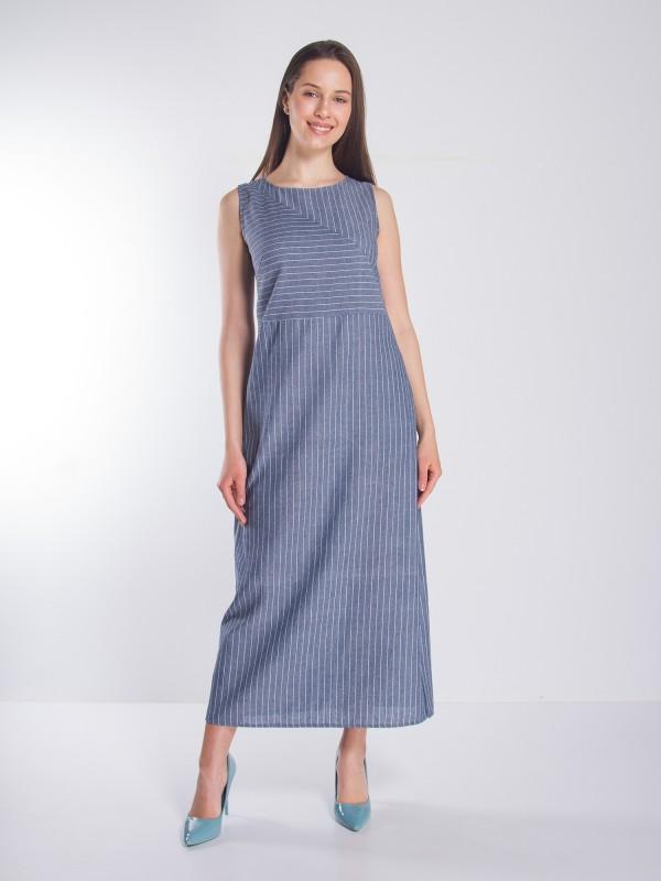 009151e8b12 купить Платье макси в полоску